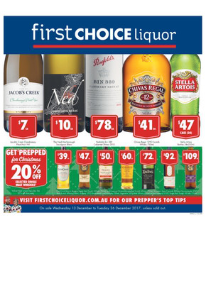 First Choice Liquor deals