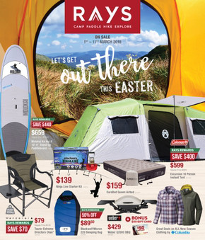Rays Outdoors deals & Rays Outdoors in Blacktown catalogues and specials