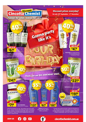 Cincotta Chemist deals