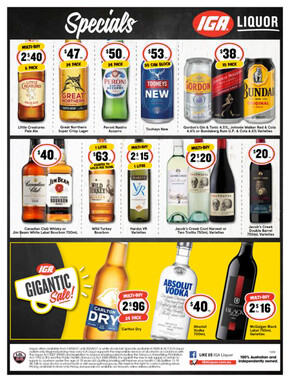 IGA Liquor deals